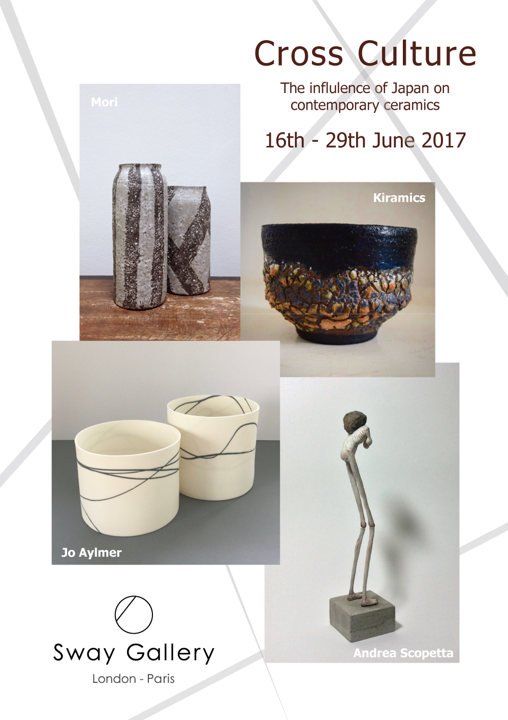 Cross Culture, a ceramics selling exhibition