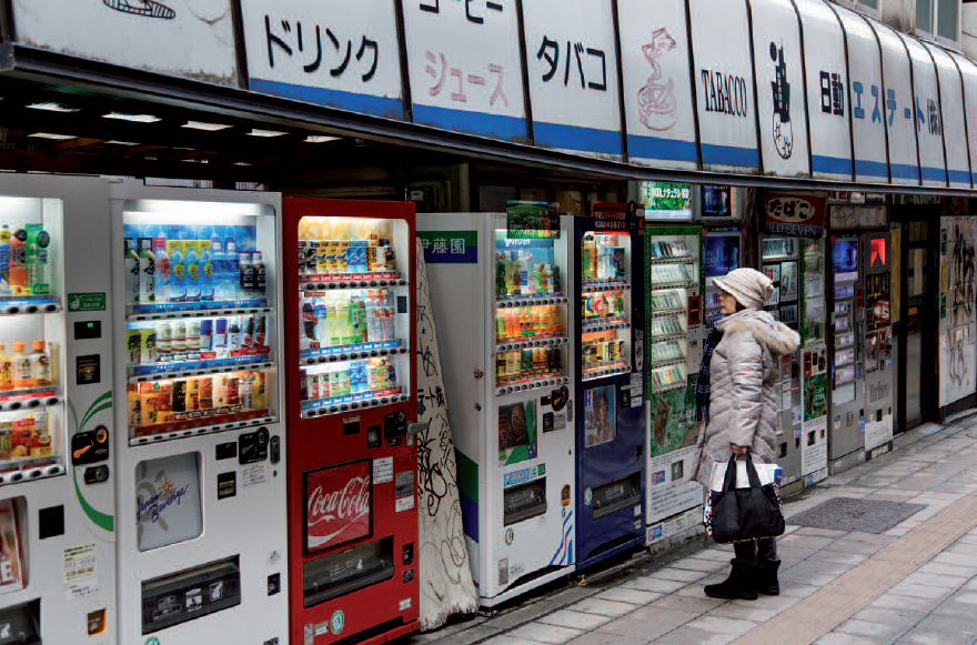 putting up vending machines
