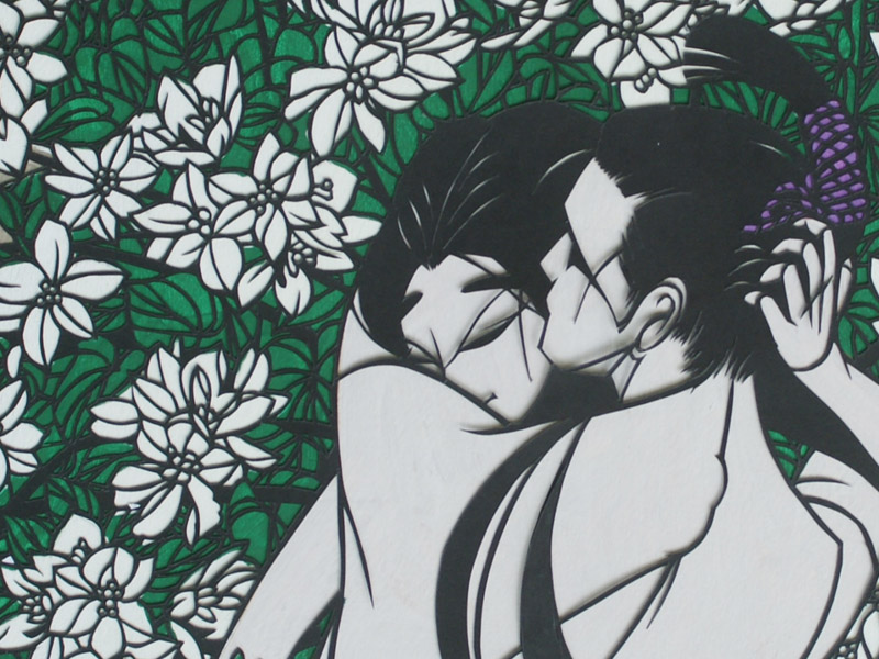 The Tale of Genji – KIRIE art exhibition by Hobo Komiyama