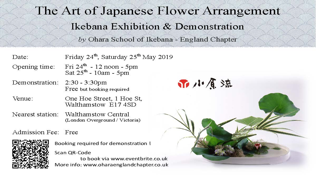 Ikebana – The Art of Japanese Flower Arrangement, FREE Exhibition & Demonstration