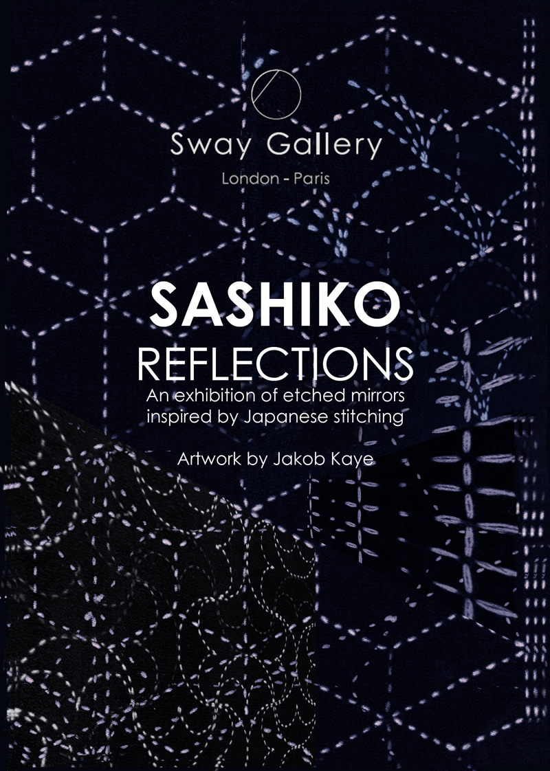 SASHIKO REFLECTIONS – A series of etched mirrors inspired by Japanese stitching